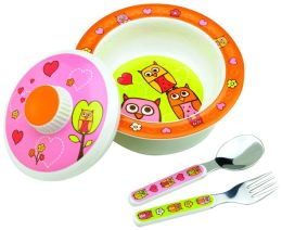 Hoot covered bowl gift set