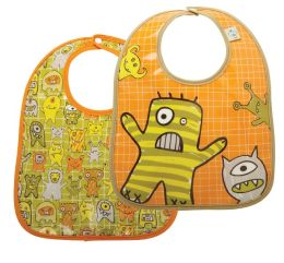 SugarBooger Bib 2-Pack Gift Set - Hungry Monster