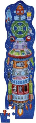 Space Ship 36 piece tower puzzle