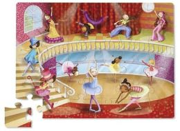 Ballerina Shaped Box Floor Puzzle
