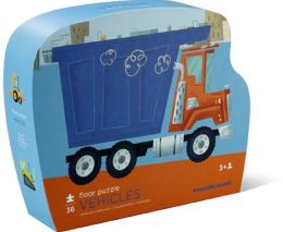 Vehicles Shaped Box 36 Piece Floor Puzzle