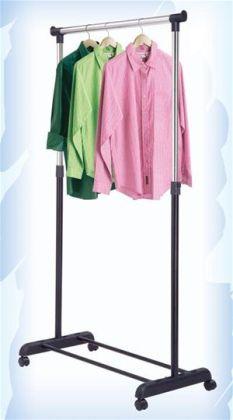 Kirch HG21B Single Adjustable Garment Rack