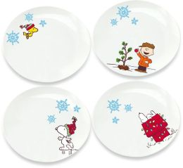 Peanuts Christmas Plate - Set of 4