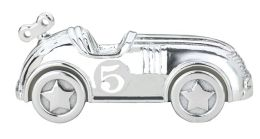 Silverplated Race Car Bank