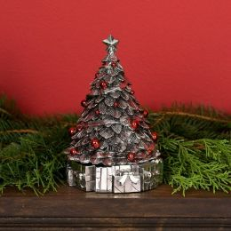 Silverplated Revolving Musical Christmas Tree