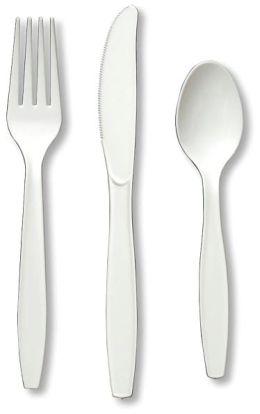 Heavy Duty Cutlery Assortment 24/Pkg-White