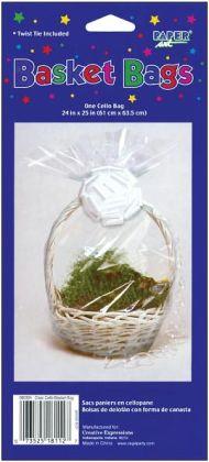 Cellophane Basket Bag 24