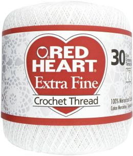 Red Heart Extra Fine Crochet Thread Size 30-White