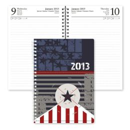2013 Daily Desk Navy Star Engagement Calendar