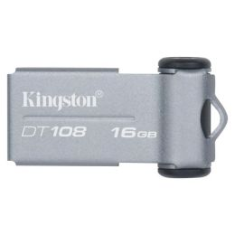 Kingston DataTraveler 108 DT108/16GBZ 16 GB USB 2.0 Flash Drive - Gray