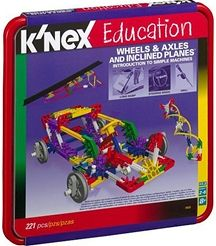Knex 78620 Intro to Simple Machines: Wheels, Axles and Inclined Planes (221 Pcs)