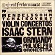 CD Cover Image. Title: Tchaikovsky, Mendelssohn: Violin Concertos, Artist: Isaac Stern