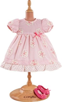 Corolle Mon Classique Pink Dress & Shoes Doll Clothes, Fits 14 Inch Dolls
