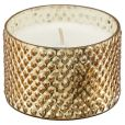 Product Image. Title: Balsam and Cedar Gold Demi Mercury Glass Candle 3.7 oz.