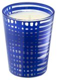 Product Image. Title: Mediterranean Small Boho Glass Candle 4.2 oz.