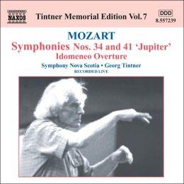 Mozart: Symphonies Nos. 34 & 41; Idomeneo Overture