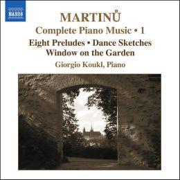 Martinu: Complete Piano Music