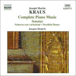 Joseph Martin Kraus: Sonatas