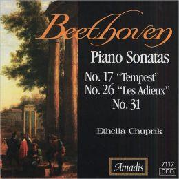 Beethoven: Piano Sonatas Nos. 17, 26 & 31