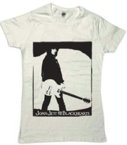 Joan Jett Guitar Tee (Sm) (Wht) (Joan Jett & The Blackhearts)
