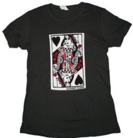Queen Of Blackhearts Womens Tee (Wsm) (Gry) (Queen Of Blackhearts Womens Tee)