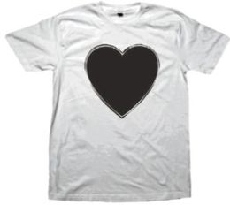 Blackheart Mens Tee (Sm) (Wht) (Blackheart Mens Tee)