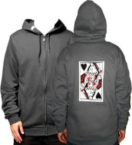 Queen Of Blackhearts Zip-Up Hoodie (Hood) (Lg) (Queen Of Blackhearts Zip-Up Hoodie)