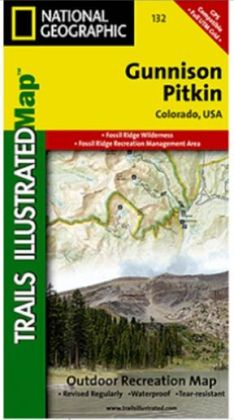 National Geographic TI00000132 Map Of Gunnison-Pitkin - Colorado