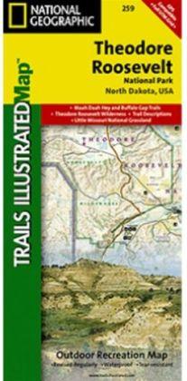 National Geographic TI00000259 Map Of Theodore Roosevelt National Park - North Dakota