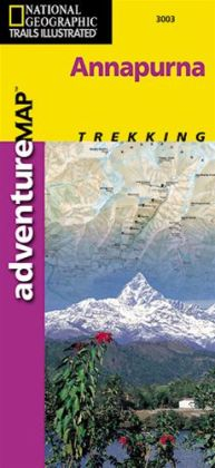 National Geographic AD00003003 Map Of Annapurna