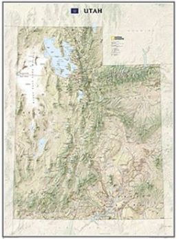 National Geographic Maps RE01020413 Utah State Wall Map Laminated