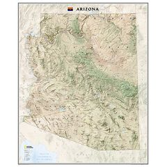 National Geographic Maps RE01020398 Arizona State Wall Map Laminated