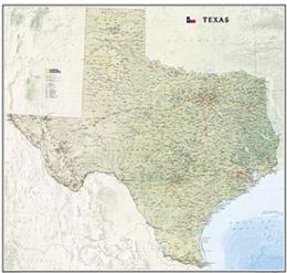 National Geographic Maps RE01020408 Texas State Wall Map
