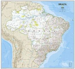 National Geographic Maps RE01020419 Brazil Classic Laminated