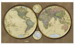 National Geographic RE0620547T World Hemispheres - Tubed Map