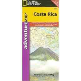 National Geographic AD00003100 Map Of Costa Rica