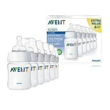 Philips AVENT BPA Free 9 Ounce 6-Pack Bottles