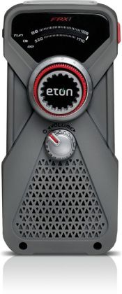 Eton NFRX1WXGY Hand-Powered AM/FM/NOAA Weather Radio with LED Flashlight - Gray