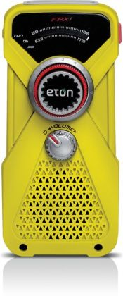 Eton NFRX1WXYL Hand-Powered AM/FM/NOAA Weather Radio with LED Flashlight - Yellow