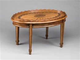 AA Importing 46934 Oval Coffee Table - Medium Brown