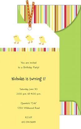 Ducks Tag Imprintable Invitation Set of 10