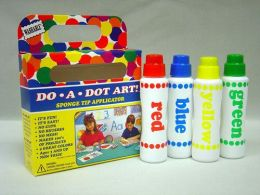 DO-A-DOT ART DAD201 DO-A-DOT MARKERS 4 ASST