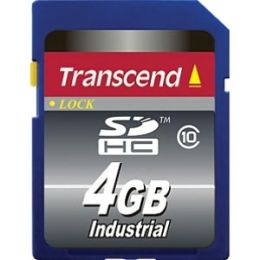 Transcend 4 GB Secure Digital High Capacity (SDHC) - 1 Card