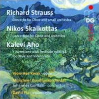 Richard Strauss: Concerto for Oboe; Nikos Skalkottas: Concertino for Oboe; Kalevi Aho: 3 Inventions with a Postlude