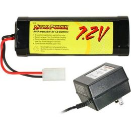 Nitro Power 7.2V Nicd Battery With Charger - Battery With Charger