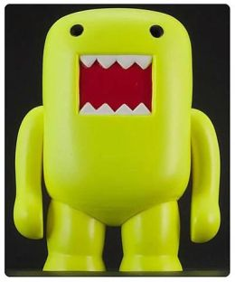Domo 4 Inch Vinyl Figure, Black Light Yellow