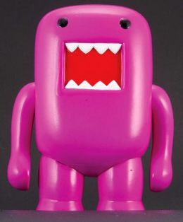 Domo 4 Inch Vinyl Figure, Black Light Puple