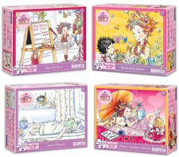 Fancy Nancy 100 pc Glitter Puzzle Four Pack