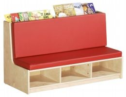 Early Childhood Resources ELR-0687 Sofa - Read Sectional - Birch - RTA - Red