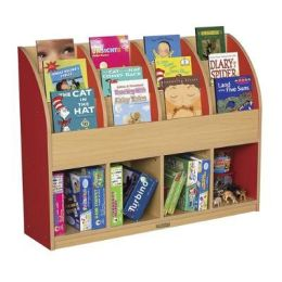 Early Childhood Resource ELR-0720-RD Large Colorful Essentials Single Sided Book Stand - Red